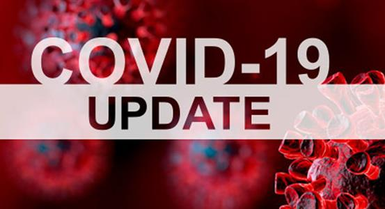 COVID-19 Update with image of virus